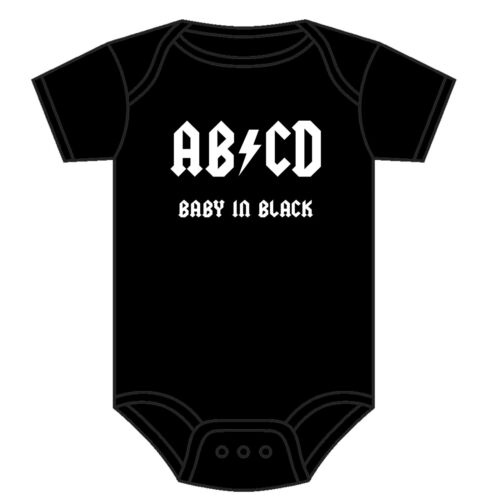 AC//DC BABY GROW TODDLER VEST FUNNY AB//CD BABYGROW ROCK MUSIC BAND 0-18 MONTHS
