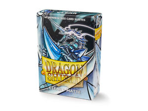 Japanese Matte Clear Case Display Dragon Shield Sleeves - 10x 60 ct Packs