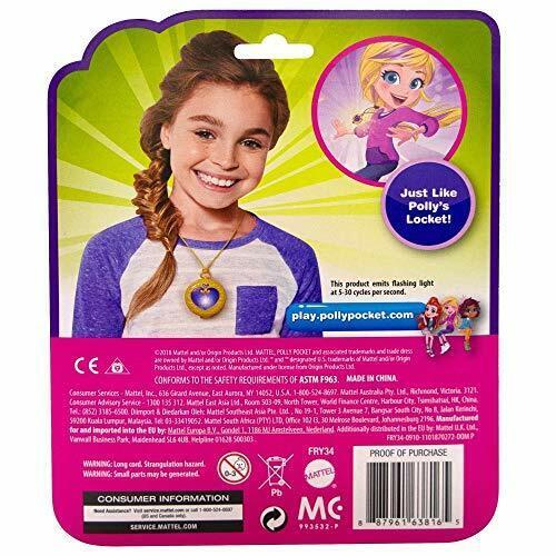 multi-colore Polly Pocket FRY34 piccolo POTERE MAGICO illuminare Medaglione