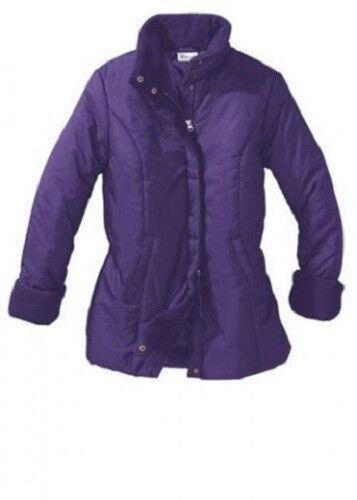 Damen Jacke Gr 40 Winterjacke Steppjacke lila dick warm weich kuschelig lang