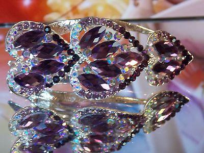 Kirks Folly 35th Anniversary Rosetonecrystal ice Heart Breaker Hair Clip