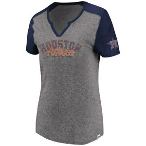 9f9086cd13c New MLB Houston Astros Majestic Women s Two Seamer V-Notch T-Shirt ...