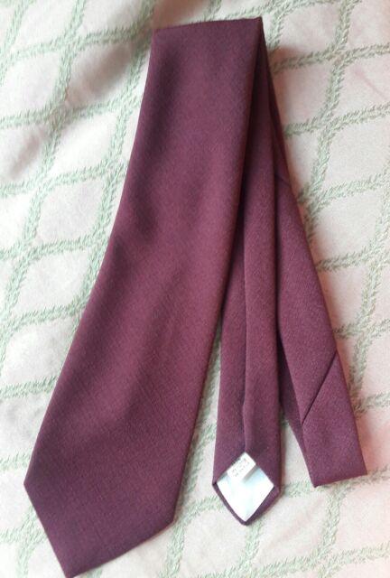 Burgundy/Wine Solid Tie VINTAGE Wide Polyester necktie Sheridane #44915