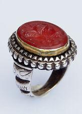 orient Turkmen massiv silber Karneol Siegelring Afghan seal ring Nr:9