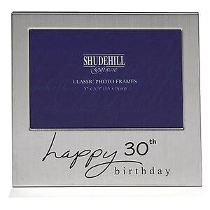 Happy 30th Birthday Gift Present Photo Frame For Her Female Male Him Mens