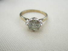 GENUINE MOISSANITE DIAMOND SOLITAIRE 9 CARAT SOLID YELLOW GOLD RING 7.1mm vvs1 O