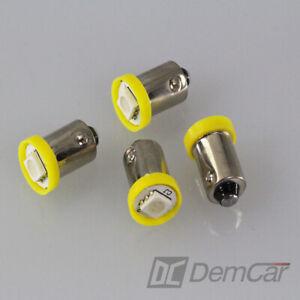 10-X-LED-Lampe-Universel-1-SMD-H6W-BA9S-Couleur-Orange