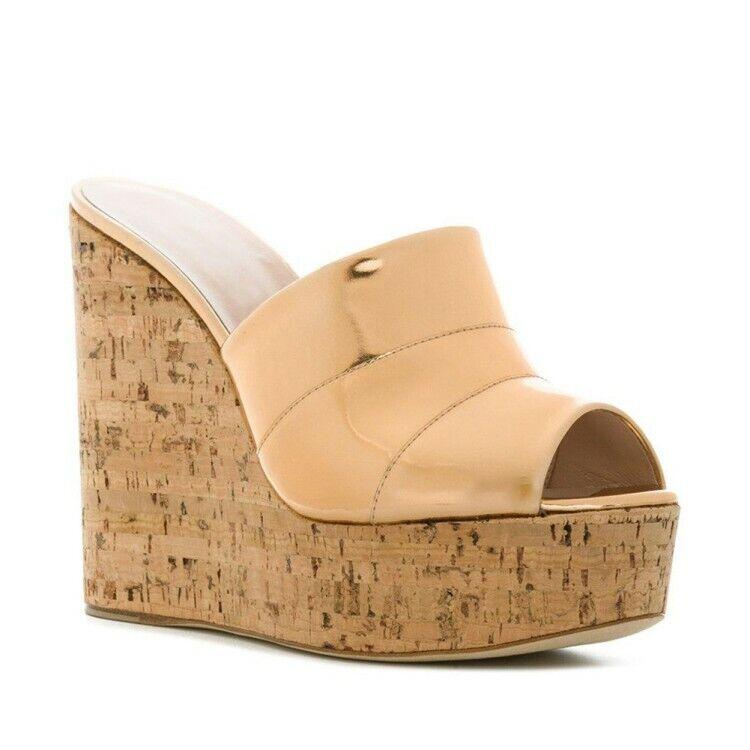 il più alla moda Donna  Platform Wedge Wedge Wedge Super High Heels Peep Toe Fashion Sandals scarpe 4.5-11.5  omaggi allo stadio