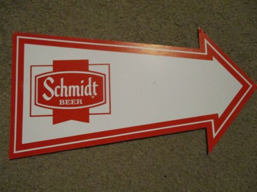 SCHMIDT BEER Vintage Arrow SIGN cardboard craft beer brewery