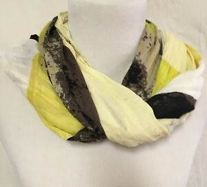 Volcom-Large-Viscose-Scarf-Wrap-Multi-Color-Black-Yellow-Ombre-Women-039-s