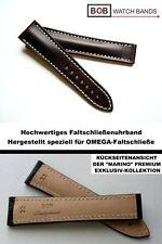- BOB MARINO Handmade SATTELLEDERUHRBAND Kompatibel mit Omega -FS BRAUN 22/18 mm