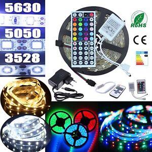 Ruban-Bande-LED-Strip-5M-Blanc-chaud-Vert-Bleu-Rouge-RGB-5630-3528-5050-SMD