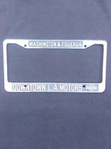 Vintage Metal License Plate Frame Ebay