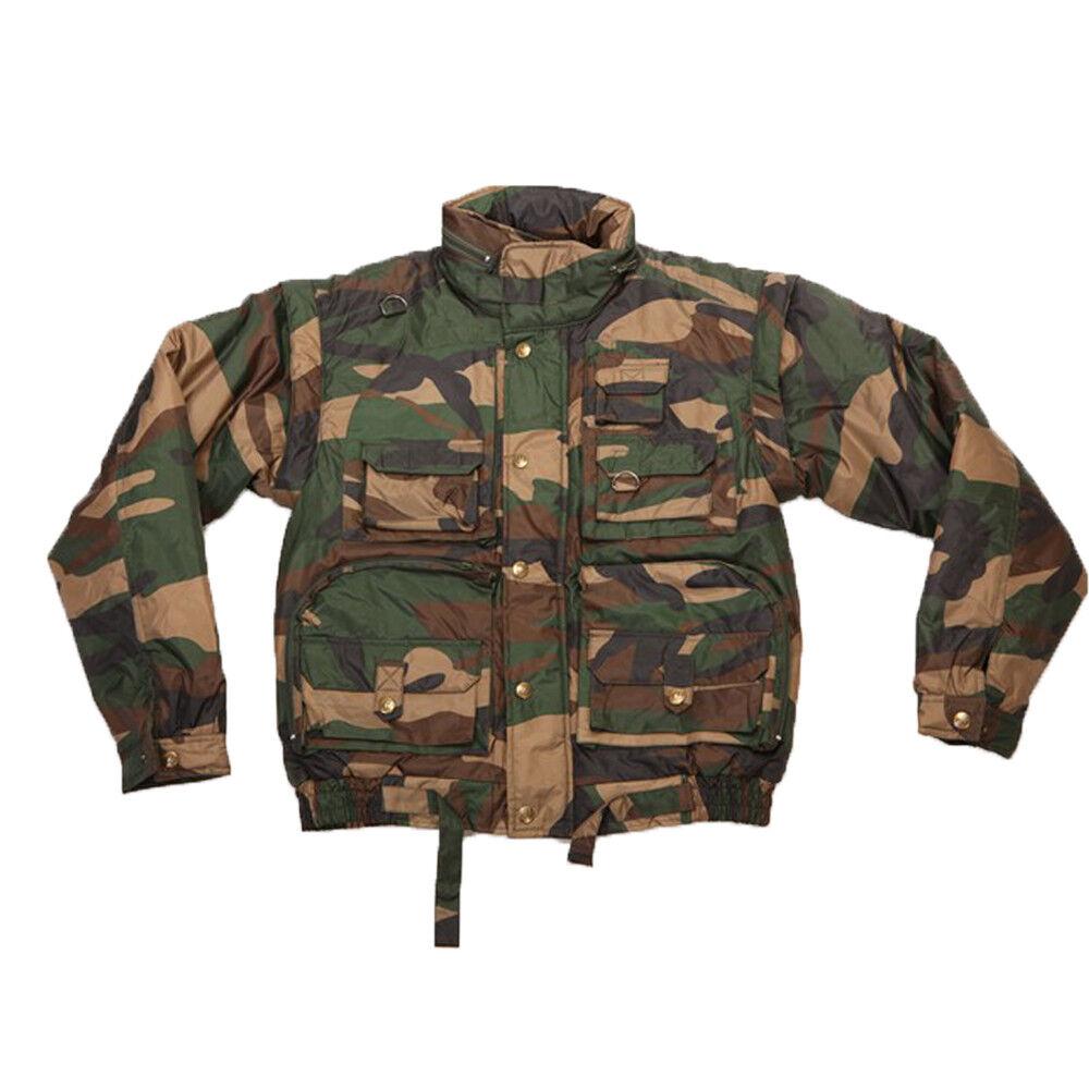 Giubbino bomber giaccone giacca mimetico uomo caccia pesca impermeabile piumino