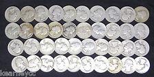 1941 S WASHINGTON QUARTERS G - VF PROBLEM FREE FULL ROLL 40 SILVER COINS