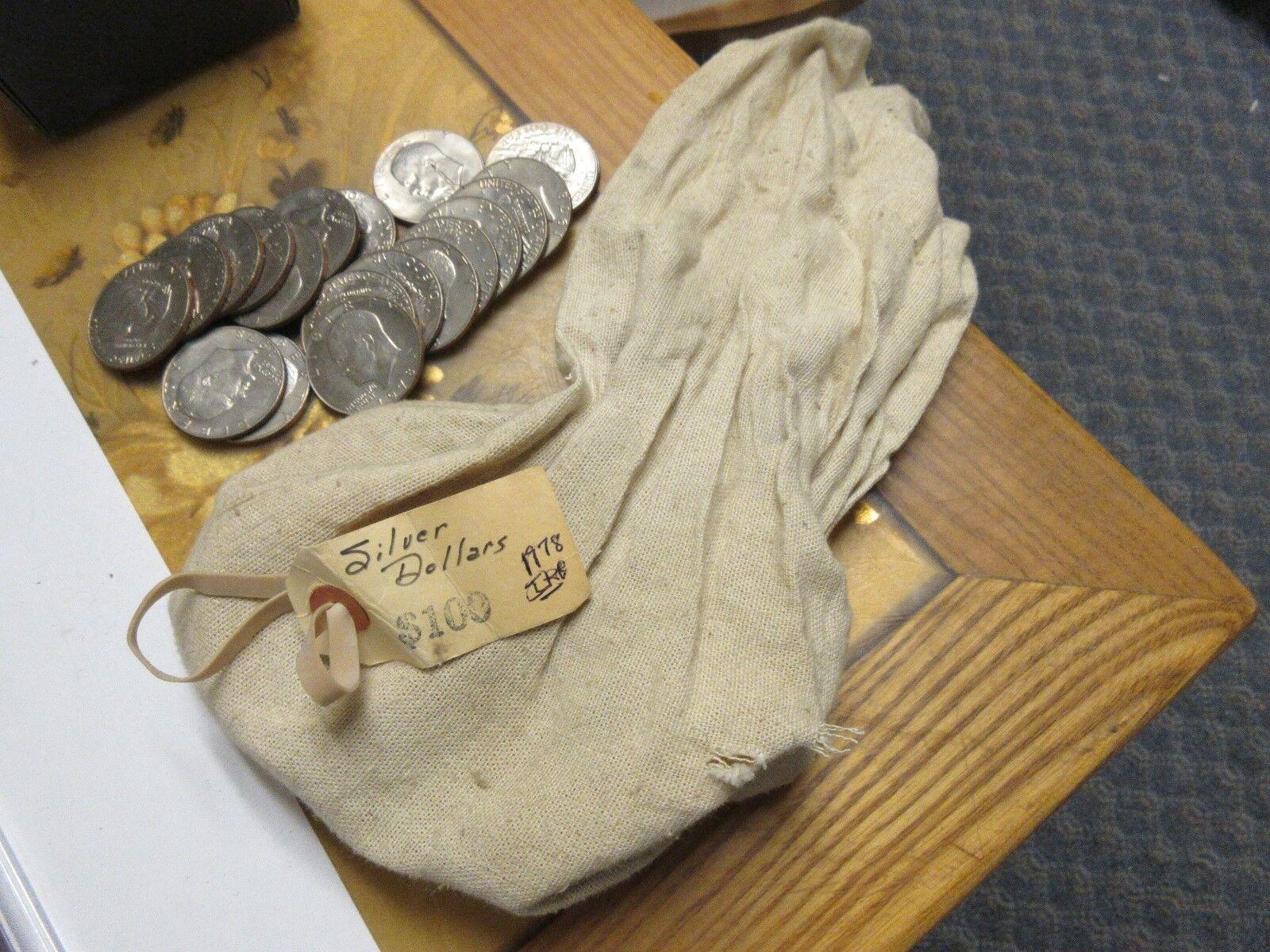 1978 , Eisenhower Dollars , Lot of 50 , Uncirculated ,