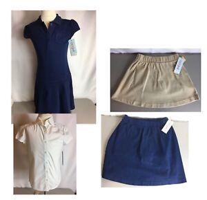 Girls Old Navy   School Uniform Skater Skirt Size M L XL XXL NWT  Navy