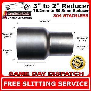 Acier Inoxydable Double Manchon 76 mm /à 70mm R/éducteur Tuyau adaptateur