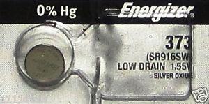 1 Energizer 373 Silver Oxide Battery-SR916S<wbr/>W