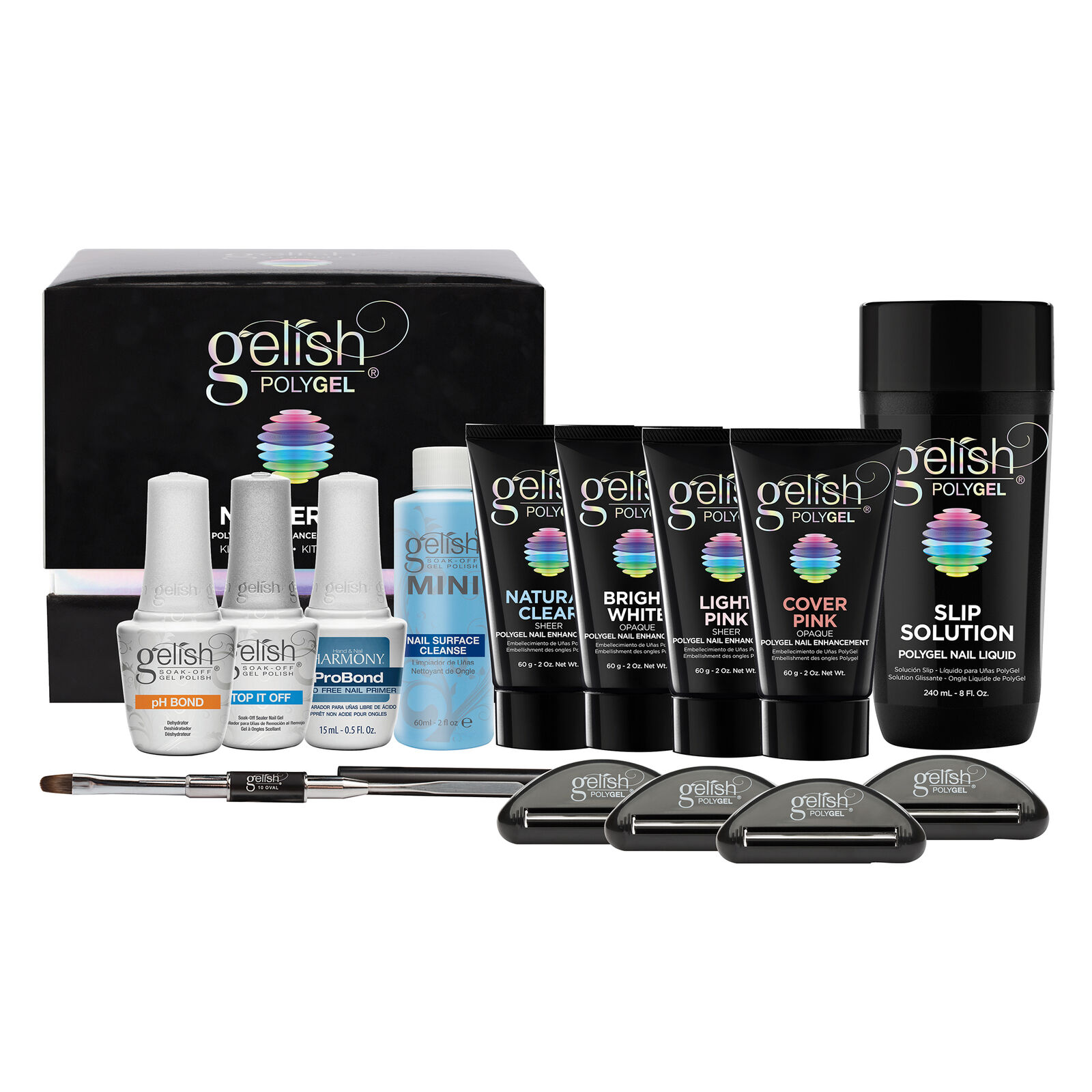 Gelish Polygel Professional Nail Technician Enhancement Master Kit ...