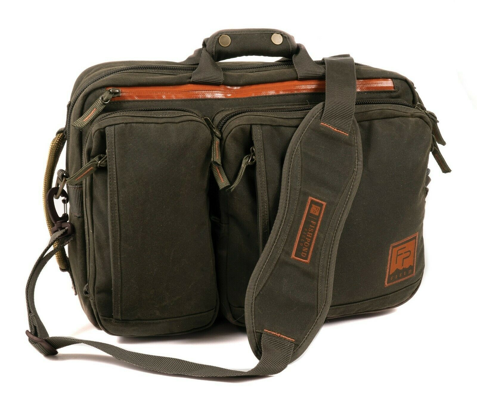 Fishpond Boulder Briefcase  Coloree Peat Moss  nuovo