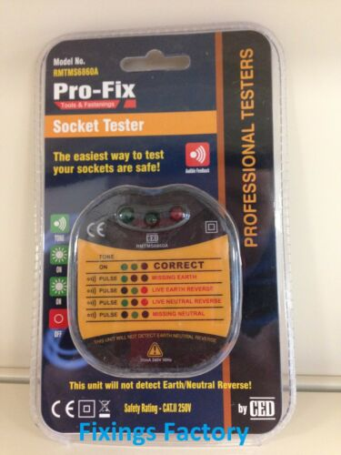 Professional Ring Mains Tester UK 250V Faulty//Crossed Wiring testing