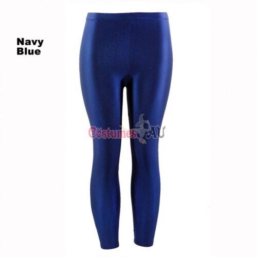 80s Shiny Neon Leggings Costume 80/'s Stretch Fluro Pants Gym Yoga Dance Party