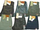 New Men's Levi's 522 Jeans Slim Fit Tapered Leg Denim Rigid Dark Light Trouser