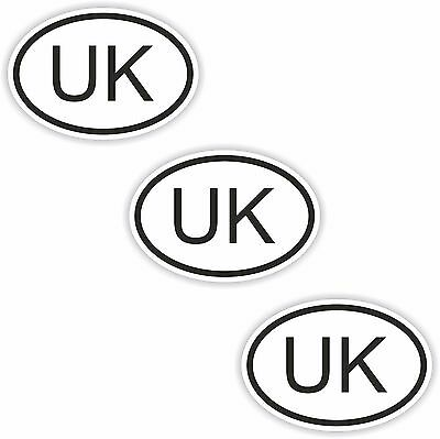 3x Oval Black /& White Stickers Netherlands Small Country Code Tablet phone Case