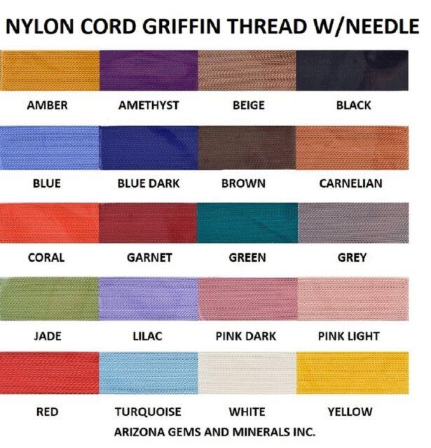 2 pks Griffin Silk Bead Cord-2 Meters-Size 4-Black