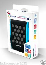 Brand New Adata DashDrive HD720 Waterproof USB 3.0 External Hard Drive 2TB BLUE