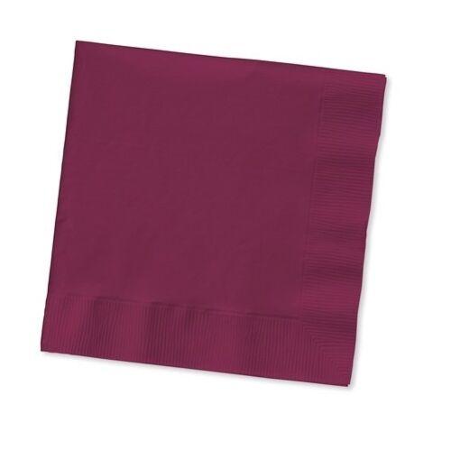 Papier 2-ply Square Déjeuner serviettes-Solide Couleurs-jetables Diner Bar Party