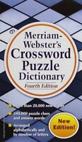 Merriam-webster's Crossword Puzzle Dictionary, Fourth Edition, Spell, Words