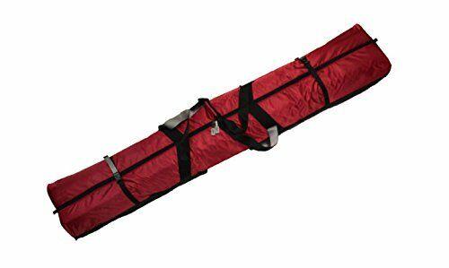 Fully Padded Double Ski Bag W Wheels 190cm Red