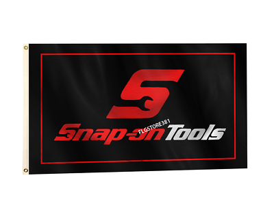 Snap-on Flag Banner 3x5 ft American Tools Products Wall Garage Red