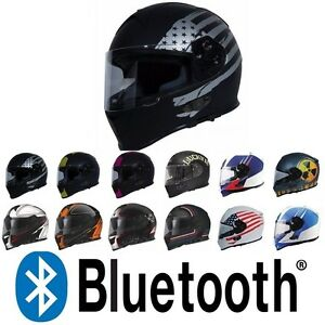 cffc0b27 Image is loading TORC-Mako-T14B-Bluetooth-Full-Face-Motorcycle-Dual-
