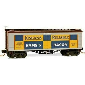 Micro-Trains-Z-Kingan-039-s-Ham-amp-Bacon-36-039-Wood-Sheathed-Ice-Reefer-MTL05800130