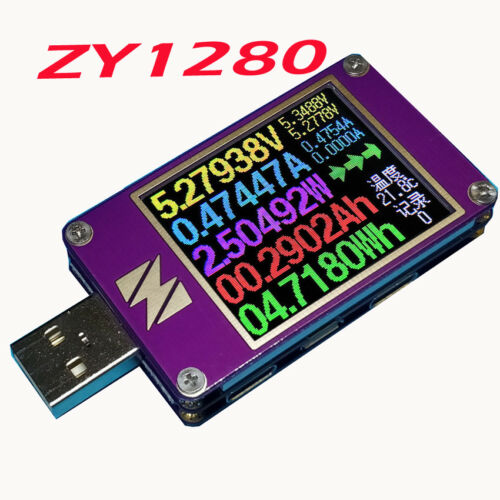 YZXstudio ZY1280 USB Current Voltage Capacity Fast Charge QC4 PD3.0 MFI PPS Test