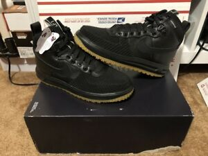 sale retailer f197f ecbc2 Image is loading New-Nike-Lunar-Force-1-Duckboot-Black-Anthracite-