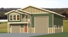 40x48 House with 1-Car 1-RV Garage - PDF FloorPlan - 1,613 sqft - Model 2B