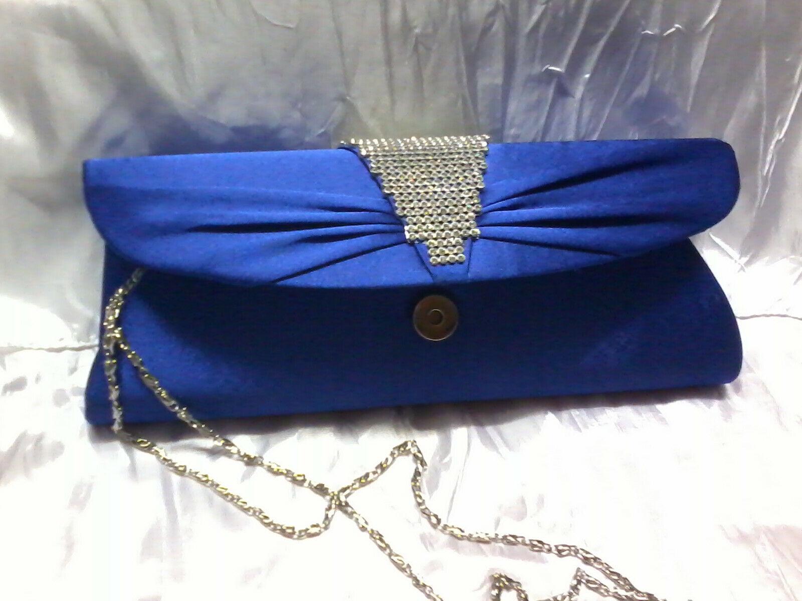 BEAUTIFUL Quality Wedding Evening Wear Clutch HANDBAG PURSE'S hand strap & chain