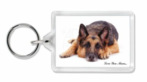 MUM-D6K German Shepherd /'Love You Mum/' Photo Keyring Animal Gift