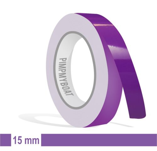 Zierstreifen lila 15mm 10m Länge Aufkleber Auto Klebeband Folie Tuning violett