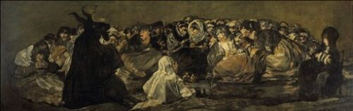 Francisco Goya Witches/' Sabbath 1821-1823  poster print 11.4 x 36 inches
