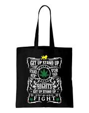 Get Up Stand Up Lyrics Shoulder Bag - Reggae Rasta Bob Marley Weed Cannabis
