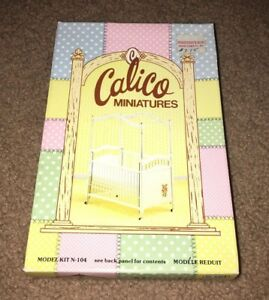 CALICO-MINIATURES-DOLLHOUSE-CRIB-BRAND-NEW-IN-BOX-KIT-N-104