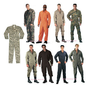 b9d1e0971a0 Image is loading Military-Flightsuit-AirForce-Mechanic-Camo-Coveralls-Flight -Suit-