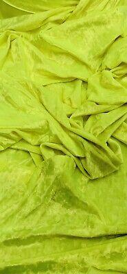 Polyspandex Foil Lime Green Dance Costume Lycra Fabric 1//2 or full Metre x150cm