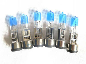 6x-BA20D-35w-Super-White-Xenon-Headlight-Bulbs-12v