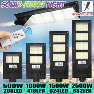 500W-2500W-LED-Solare-Alimentato-Muro-Strada-Luce-Sensore-di-Movimento-Remoto